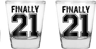 Finally 21 - Funny 21st Birthday Gift - 1.75 OZ Shot Glass Set (2)