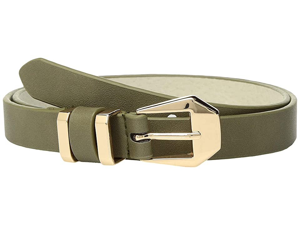 Lodis Accessories Faceted Buckle Pants Belt (Olive) Women