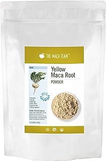 The Maca Team – Yellow Maca Root Powder – 100% Certified Organic & Fair Trade – GMO-Free – 2.2 Pounds,111 Servings