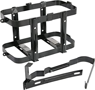 Black Jerry Can Holder for 5 Gallon (20 Liter) Gas Tank - Steel Bracket Mount Holder Gas Can Strap