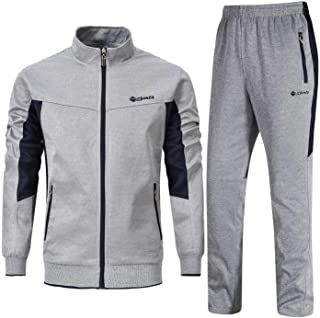 Men's Tracksuit Athletic Full Zip Casual Sports Jogging Gym Sweatsuit