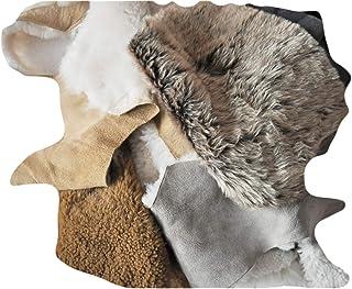 Mousses de mouton à double face, morceaux de fourrure d'agneau, morceaux de cuir à laine, restes de laine de mouton, retra...