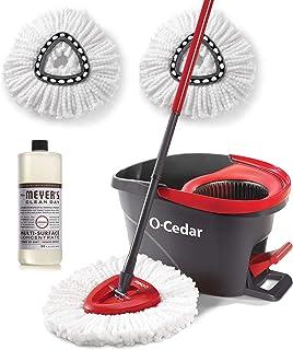 O-Cedar EasyWring Microfiber Spin Mop, Bucket Floor...