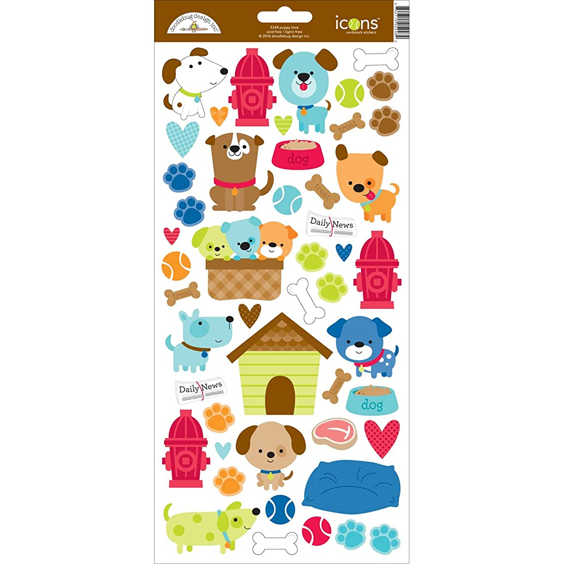 DOODLEBUG Puppy Love Cardstock Stickers 6