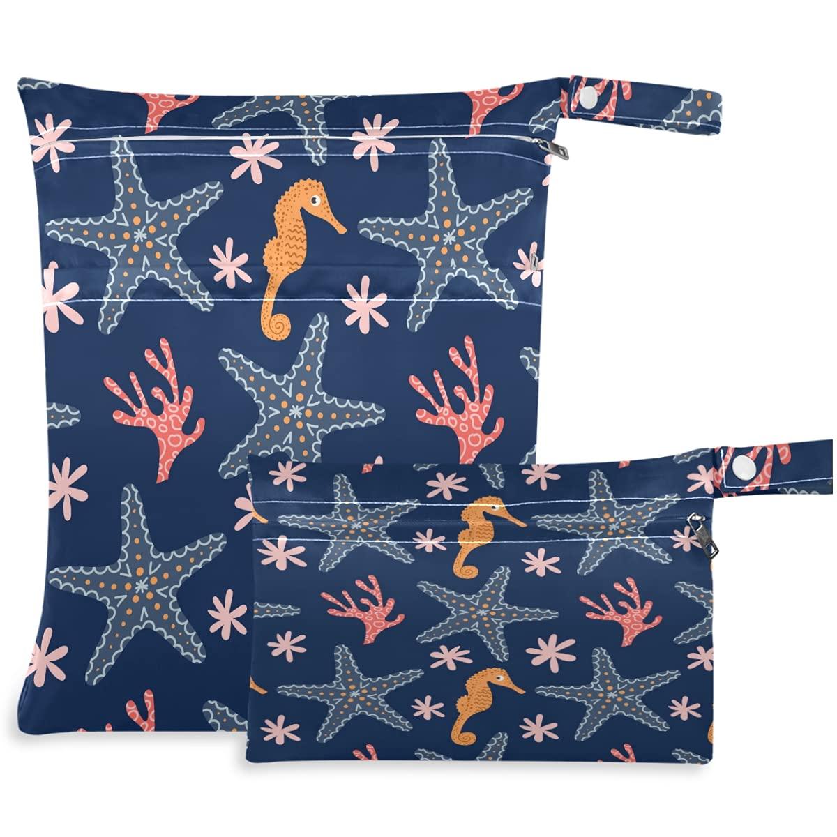 visesunny Marine Mail order Seamless Pattern Popular brand Starfish 2Pcs Seahorse Corals