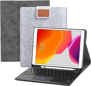 対応iPad 10.2に キーボード 保護カバー 2019 タッチパッド搭載 iPad保護ケース 超軽量 薄型 高級 保護カバー ワイヤレスbluetoothキーボード 手帳型 ビジネスカバー スタンド機能付