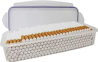 Plastic Container Storage Case for 200 Cigarette Filter Tubes Carton Safe Seal