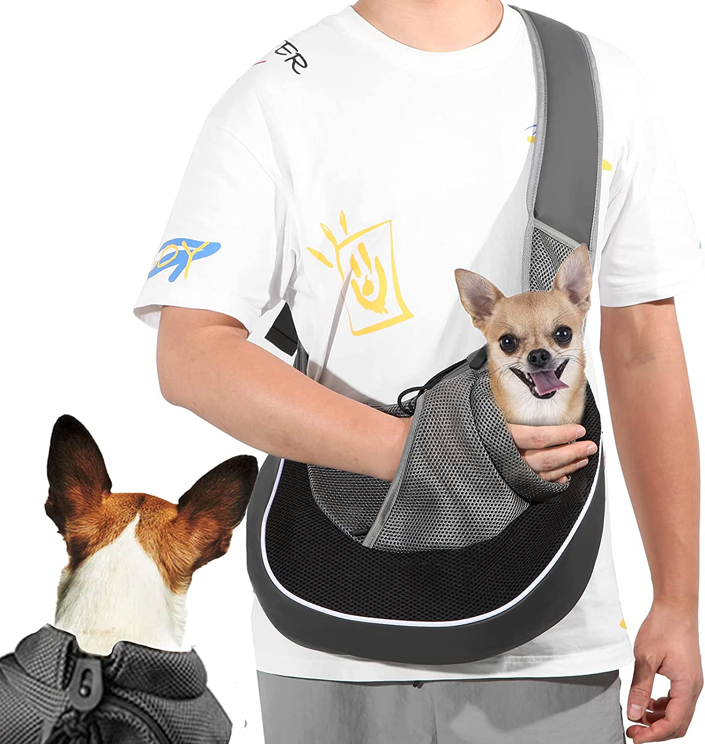 Dog Sling Carrier for Small Bre Tucson Today's only Mall Caudblor with Puppy