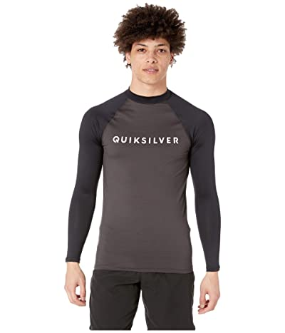 Quiksilver Always There Long Sleeve Rashguard (Tarmac) Men