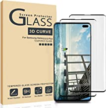 AILIBOTE Glass Screen Protector for Samsung Galaxy S10 Plus,[2 Pack] 3D Curved Tempered Glass, Dot Matrix with Easy Installation Tray, Case Friendly(Black)