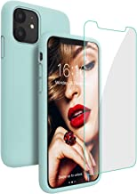 JASBON iPhone 11 Case with Free Screen Protector,Liquid Silicone Case Shockproof Gel Rubber Drop Protection Cover for iPho...