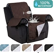 Waterproof Furniture Protectors for Recliners Covers Non-Slip Furniture Cover for Chair Cover, Brown Quilted Sofa Cover Stay in Place Stapless Small Recliner Protector (Recliner: Brown) - 79