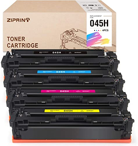 discount ZIPRINT Compatible Toner Cartridge Replacement for Canon 045 online 045H CRG-045H Toner for Color imageCLASS MF634Cdw MF632Cdw outlet sale LBP612Cdw MF632 MF634 Laser Printer Toner Ink, 4-Pack online
