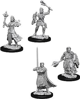 Dungeons & Dragons Nolzur's Marvelous Unpainted Miniatures Bundle: Female Human Cleric W8 + Male Human Cleric W8