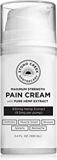 Speed-up Recovery Over The Counter (OTC) Pain Relief Cream 900+ MG Pure Hemp Extract (not Hemp Seed Oil) - Ice-Out Back Pain, Arthritis, Muscle Strain