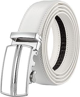 Hagora Men Brown Full Grain Glove Leather Reptile Skin Inlay 1-3//8 Buckle Belt