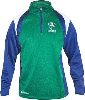 croker Ireland Zip Performance Top - Fleece Lined Polyester Pullover Sweater