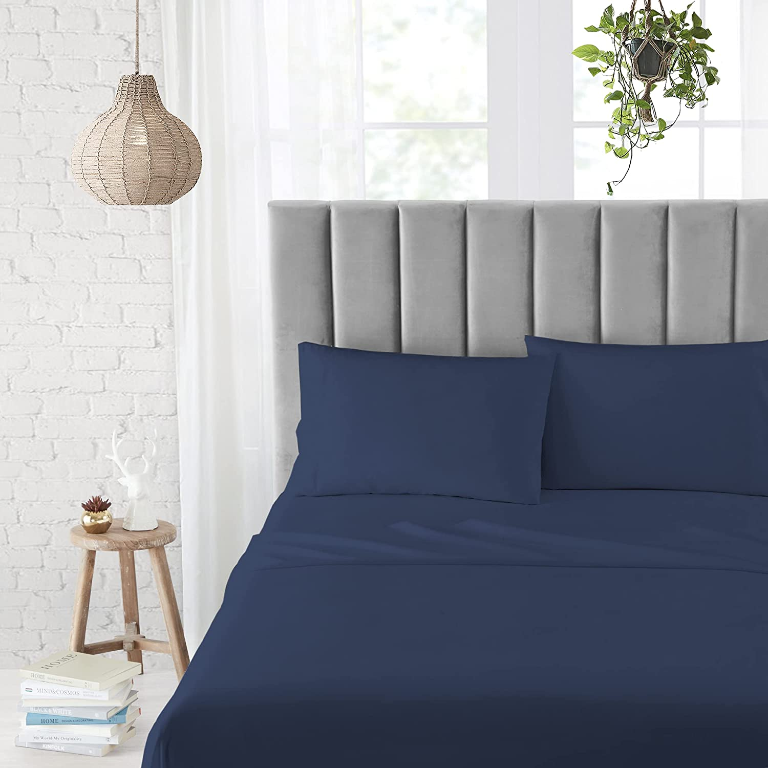Mudd 3-Piece Microfiber Al sold out. Sheet Set Flat Spring new work one after another Pillowcase Shee Bed 1