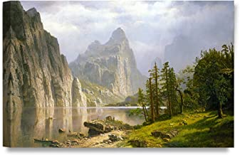 DECORARTS -Merced River, Yosemite Valley, Albert Bierstadt Classic Art Reproductions. Giclee Canvas Prints Wall Art for Home Decor 30x20 x1.5