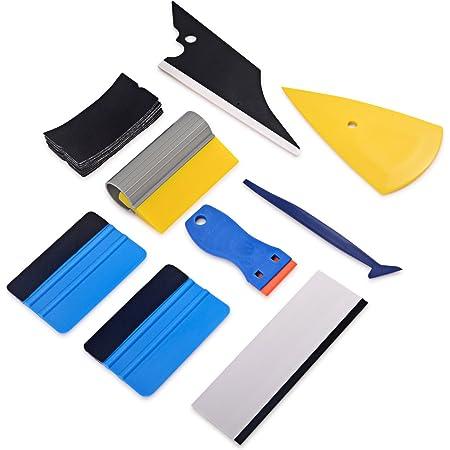 Ehdis Folierungs Werkzeug Auto Folierung Set Vinyl Wraps Tool Fenster Tönung Vinyl Wrap Werkzeuge 3 Stück Micro Rakel Cutter Fensterabzieher Für Car Wrapping Folie Auto