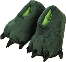 Adult Cute Plush Animal Paw Slippers Fuzzy Warm House Shoes