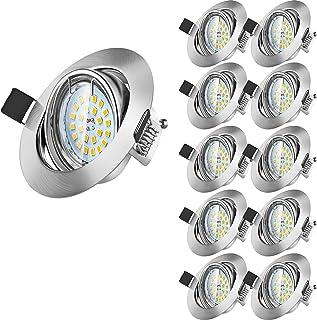 10 X Spot Encastrable LED, Wowatt Spot LED Encastrable GU10 6W Equivaut 50W Ampoule Halogène Spot de Plafond 2800K Blanc C...