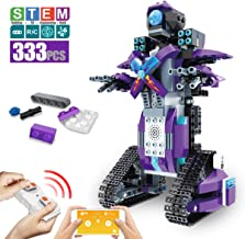 DAZHONG Building Block Robot App Controlled Toy Educational Electric RC Robot Bricks STEM Toys with LED Intelligent Charging Gift for Boys Girls Age of 6,7,8,9-14 Year Old (Purple)