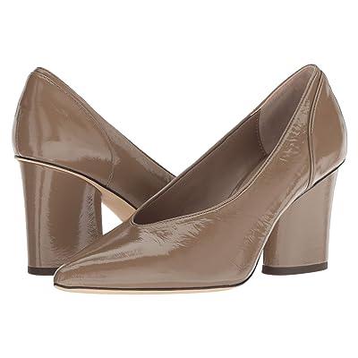 Donald J Pliner Glenn (Dark Taupe Distressed Patent) High Heels