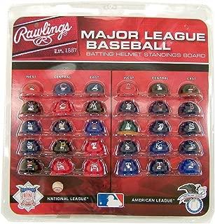 RAWLINGS MLB Major League Baseball Deluxe Helmet Standings Board, Mini, Red