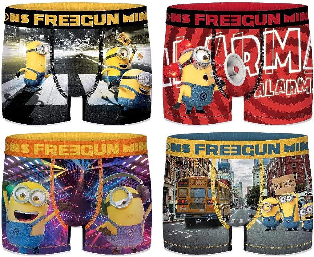secondo la disponibilit/à Confezione di 4 boxer surprise Freegun in microfibra Ozabi assortimento di modelli fotografici multicolore