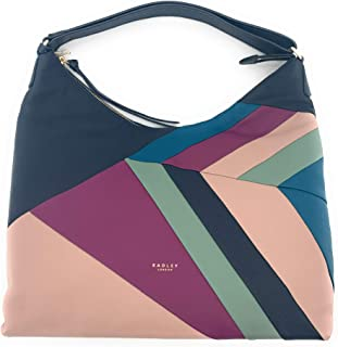 Oxleas Patchwork Large Zip-Top Hobo Shoulder Bag