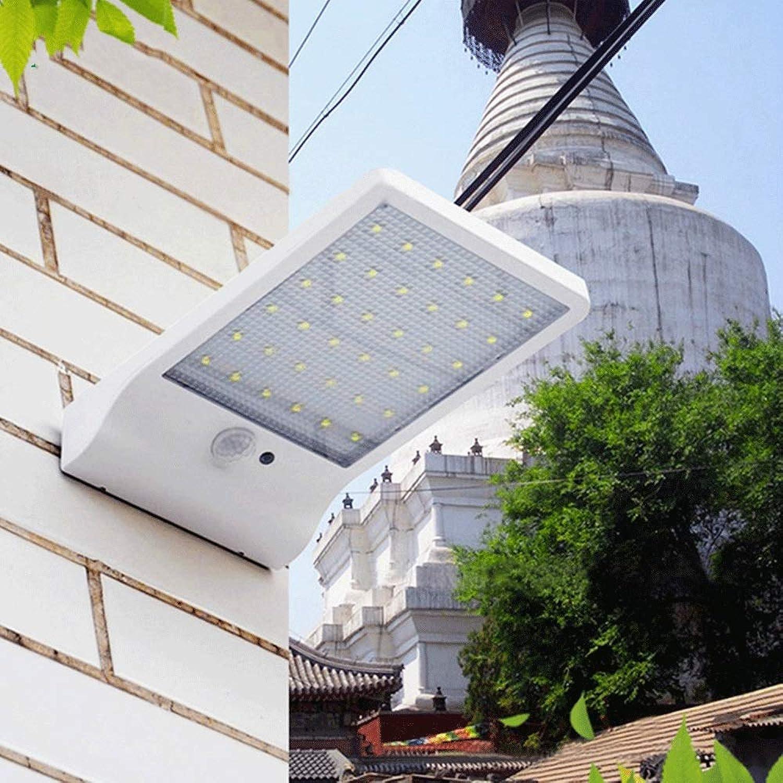 ZXT Outdoor-Wandleuchte im Freien wasserdichte menschliche Krper Induktion ummauerten Garten Solarbeleuchtung Straenlaterne