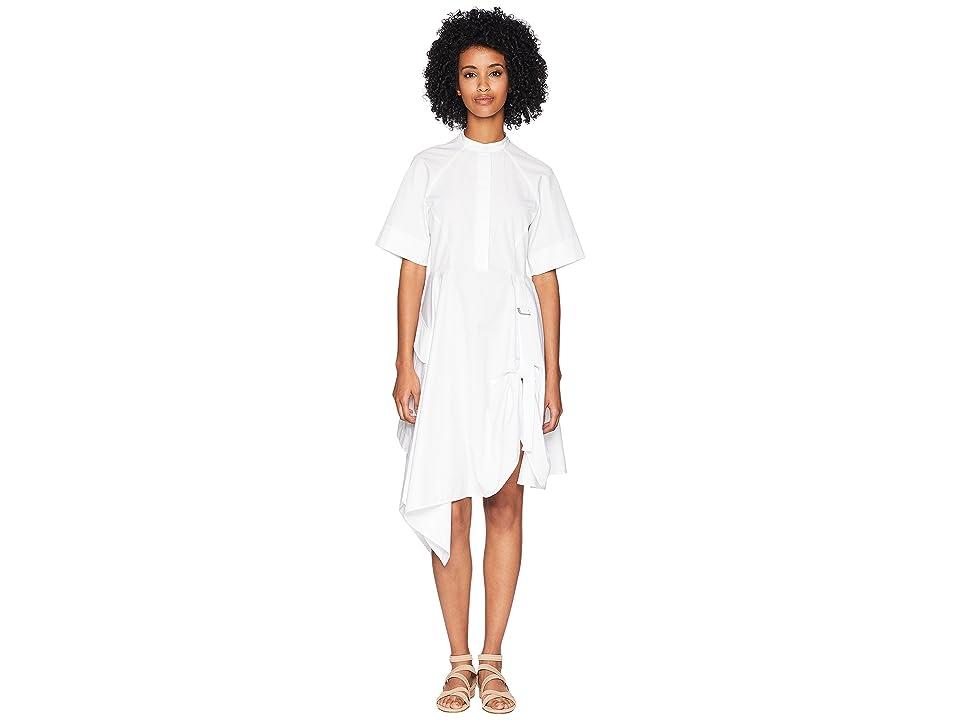 Sportmax Runway Giraffa Short Sleeve Cinch Front Dress (White) Women