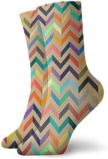 Calcetines deportivos para hombre, para mujer, coloridos patrones sin fisuras, calcetines divertidos de poliéster, 30 cm