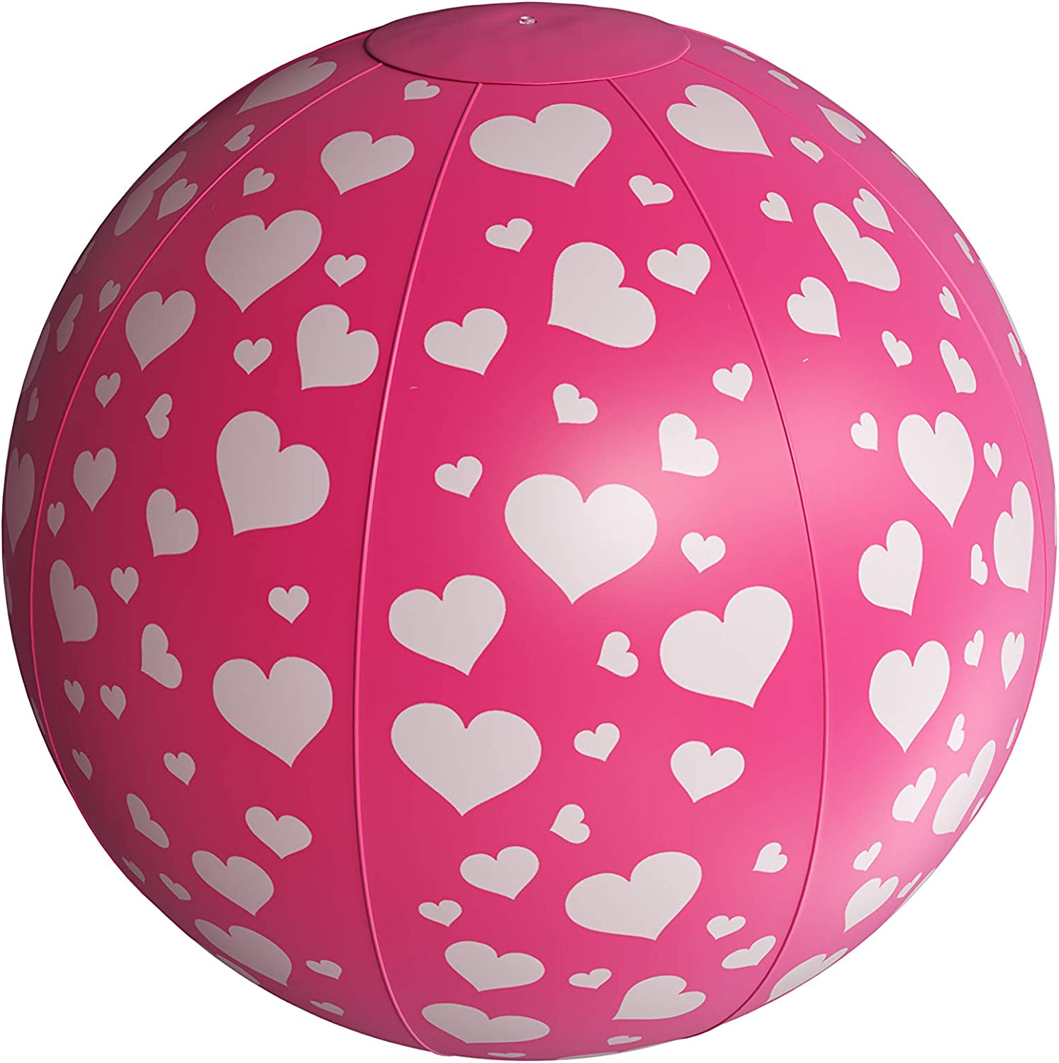 Popularity Splashie XL Max 69% OFF Beach Ball - Pink Inflatable D White with Heart