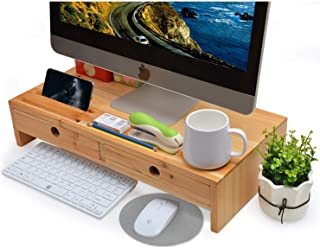 Best monitor stand with drawer wood Reviews