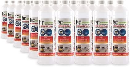 Höfer Chemie® 30 x 1L bioéthanol de cheminée à 96,6% dénaturé - FRAIS DE PORT OFFERT - qualité certifiée - bouteilles de 1 L
