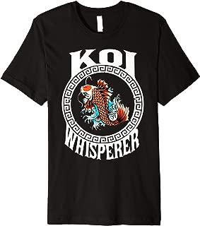 Koi Whisperer Carp Fish Japan Gift Design Vintage Premium T-Shirt