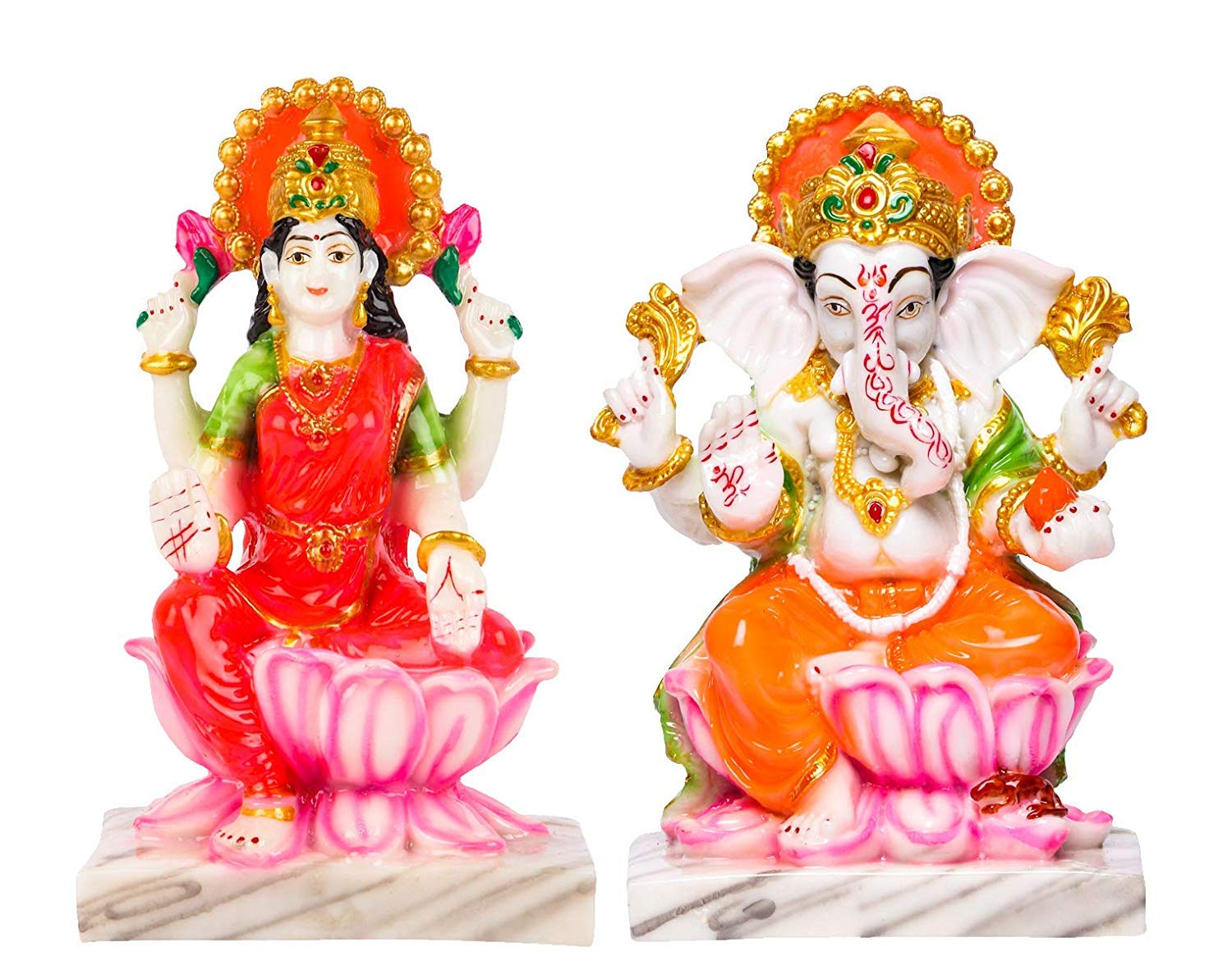 Buy Divine Gifts Laxmi Ganesh Idols Statues For Diwali Pooja 6 Inch Online At Low Prices In India Amazon In