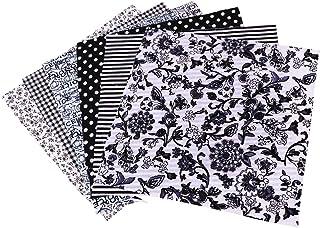 Artibetter 6 Pcs Tissu Floral Coton Drap de Tissu Patchwork Tissu Bricolage Matériel Carrés Motif Floral Coton pour Scrapb...