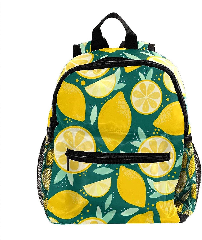 Fruit Lemon Pattern Plant 12 Houston Mall Inch Popular product For Small Backpack Little Kid