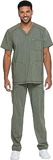 dickies Advance Men's Scrub Set Bundle-DK695 V-Neck Top & DK180 Zip Pants