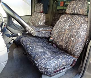 Durafit Seat Covers 1995-2000 Chevy Silverado, Tahoe and GMC Sierra Front 60/40 Split Seat with Opening Center Console. Made in Conceal Camo Endura