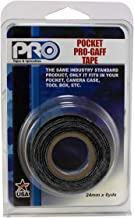 Pro Tapes Pocket Gaff Tape 1 inch (24mm) x 6 Yards Length Black Matte. Pocket Size Gaffers Tape. Made in The USA. Holds Tight, Easy to Remove.