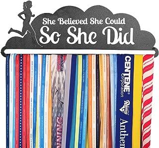 Gone For a Run | Runner's Race Medal Hanger | She Believed She Could