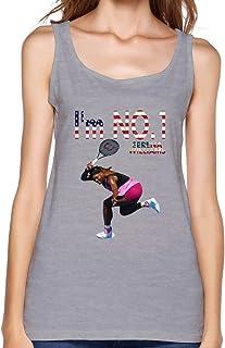 AOPO verano O-Neck Serena Williams jugador de tenis Ace Camiseta de tirantes para mujer