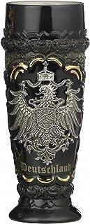 German Beer Stein black Deutschland pewter eagle wheat beer cup 0.5 liter tankard, beer mug