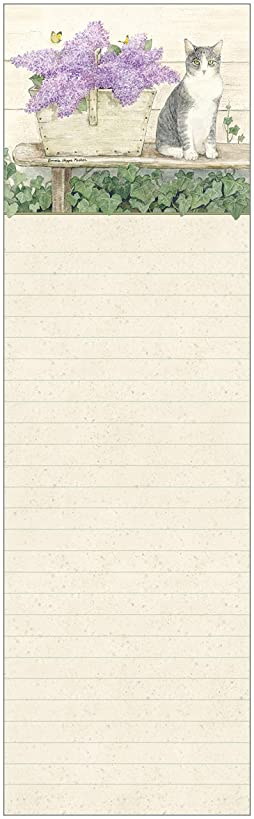 Legacy Publishing Group LPD53583 Legacy Magnetic Shopping List Pad - Made in the USA, 2.75 x 9.75-Inches, Cat on the Bench