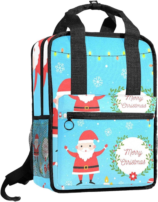 ATOMO Mochila escolar de viaje para mujeres y hombres, colección de elementos navideños