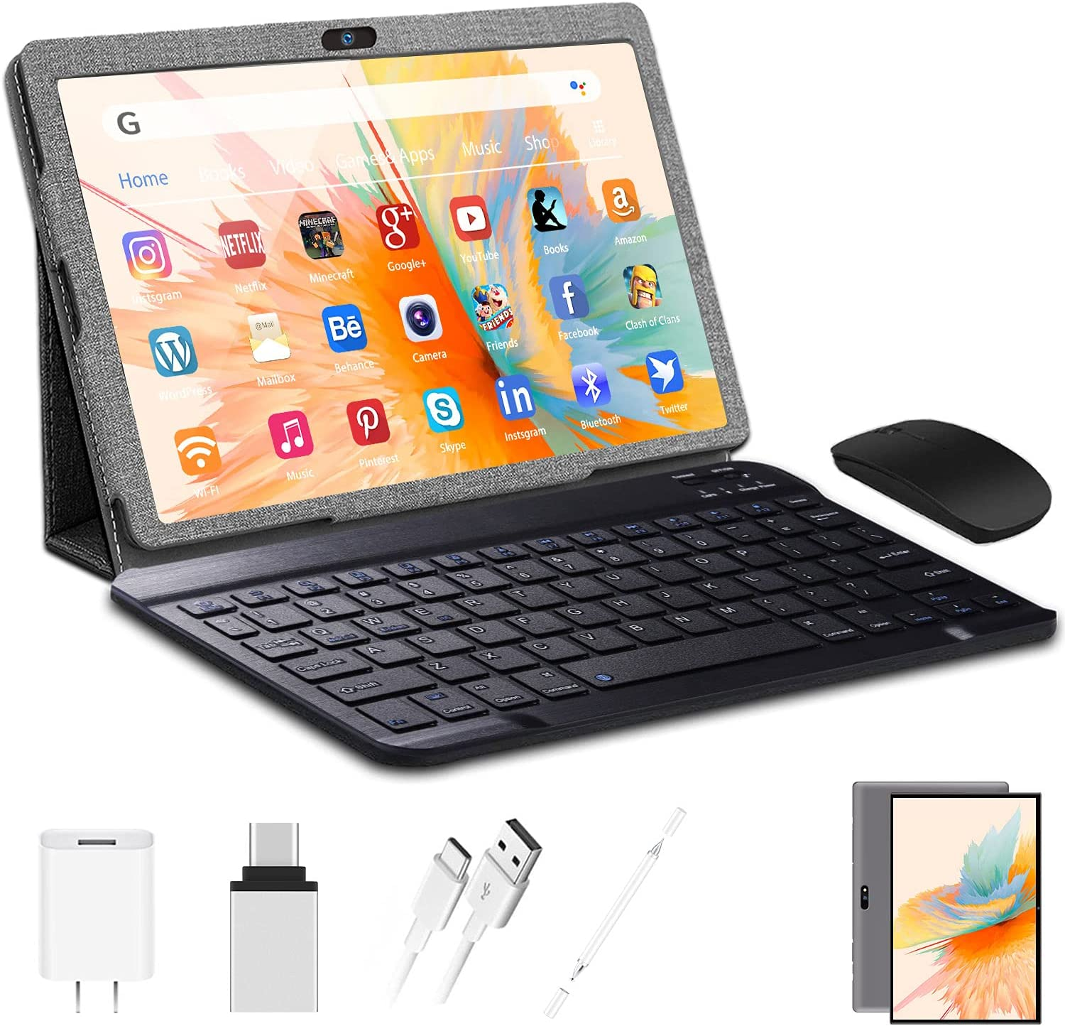 Android Tablet 10 inch with Keyboard R unisex 32GB 3GB Mouse Boston Mall RAM